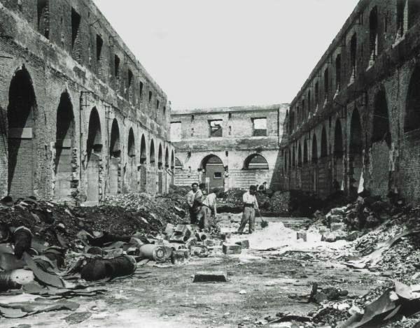 Rijkswerf gebombardeerd juni 1940