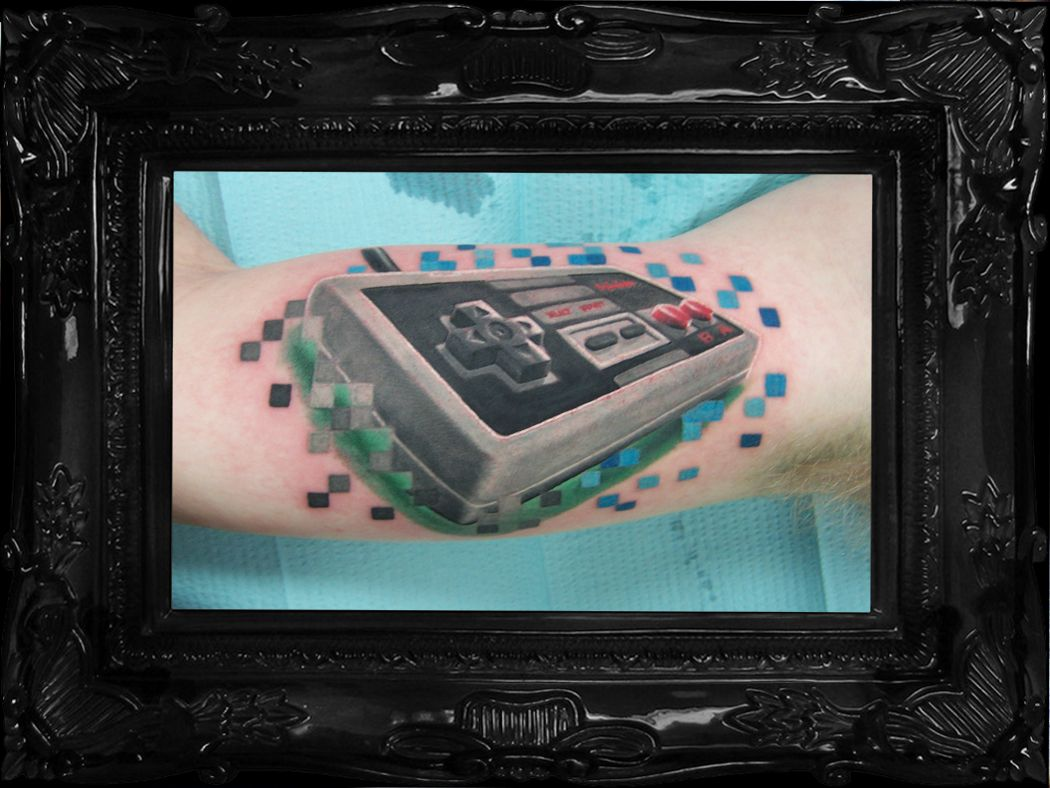 tribute to the nintendo nes controller cute 80s tattoo idea rh pinterest com
