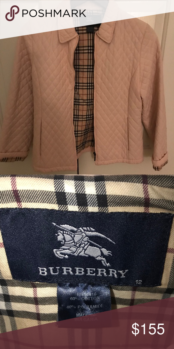 Burberry Light Pink Coat Burberry Light Pink Quilted Jacket Fits Like A Size 6 125 Burberry Jackets Coats Puffer Pink Coat Clothes Design