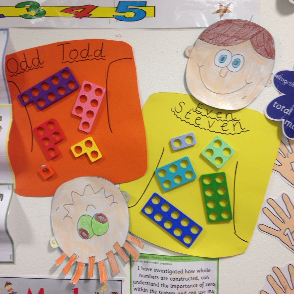 Quirky Classroom Ideas ~ Numicon odd and even numbers display … math pinte…