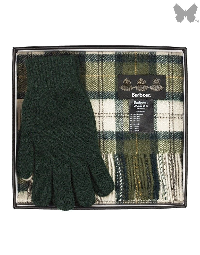 10756e47d Barbour Lifestyle Men's Scarf And Glove Gift Box - Ancient Tartan ...