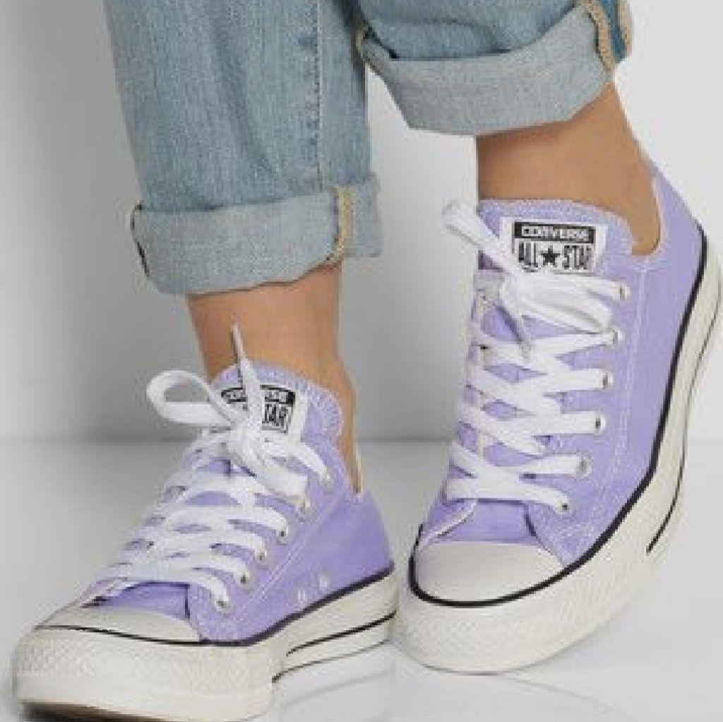 converse violette pastel