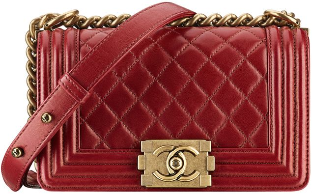 2259e29baeb Boy Chanel Small Quilted Flap Bag in Red Style code  A67085 Size  4.7′ x  7.9′ x 3.1′ Price  4