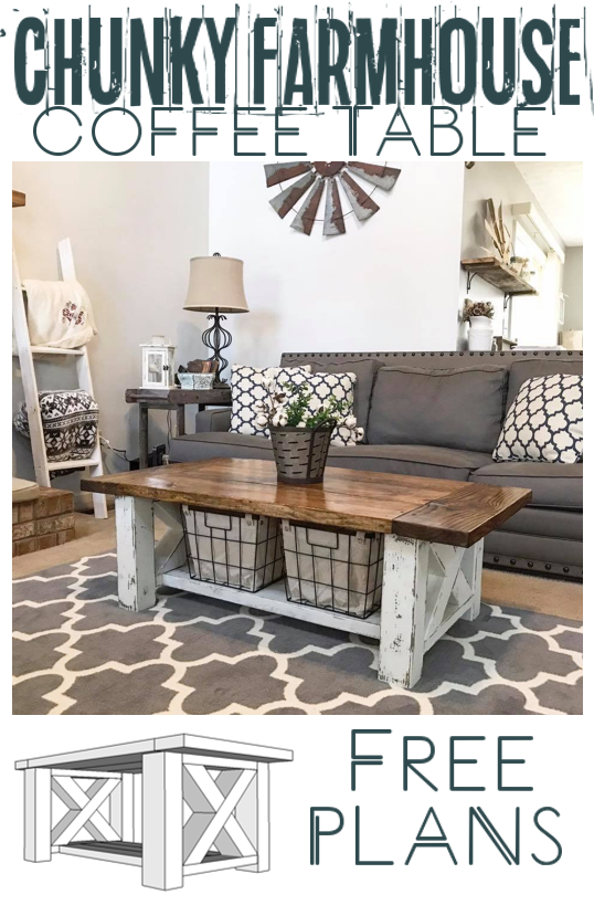 chunky farmhouse coffee table in 2018 restored furniture rh pinterest com