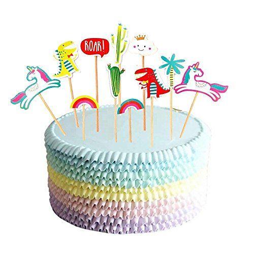 Set of 11Unicorn Birthday Cake Topper Cupcake Topper Cactus