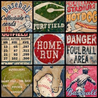 Baseball Wall Art By Aaron Christensen By EmbellishmentsStudio