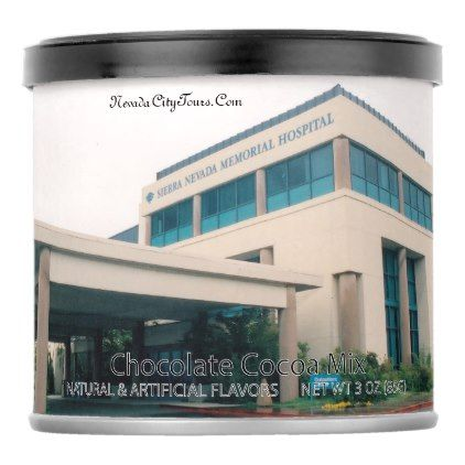 Nevada City Tours Ca. Sierra Nevada Hospital Hot Chocolate Drink Mix - cyo diy customize unique design gift idea