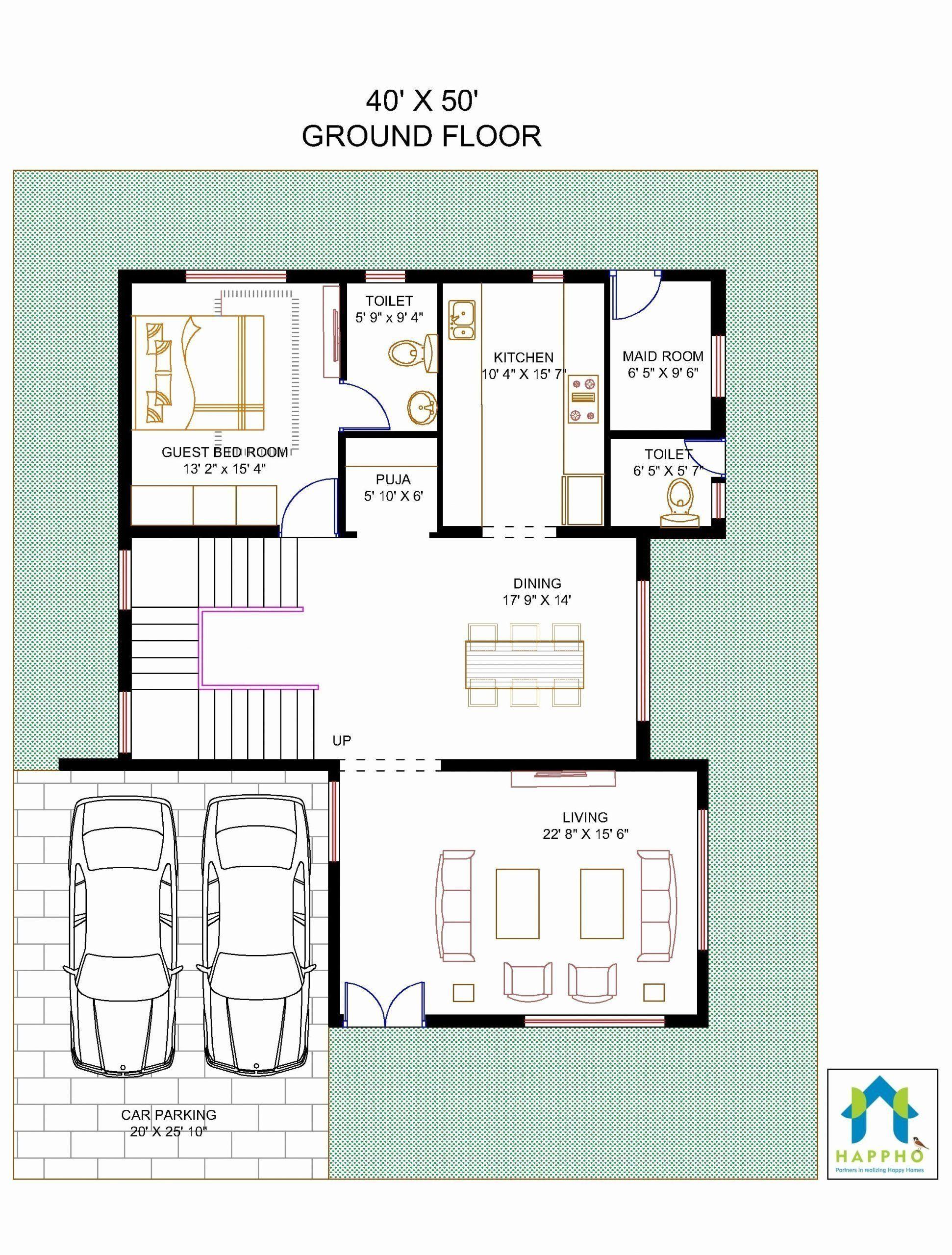 Best Home Design In 2000 Square Feet Fresh Floor Plan For 40 X 50 Plot Square House Plans Basement House Plans Luxury Floor Plans