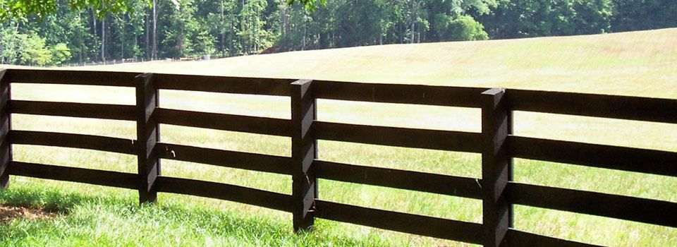Wooden Farm Fence farm wooden fence - for between house and paddock   fences and