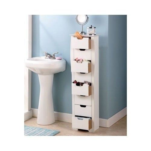 Dresser Drawers Wood Vanity Tallboy Storage Bathroom
