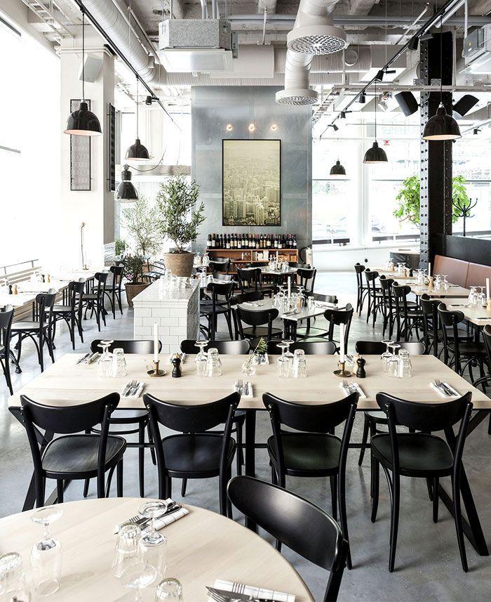 Scandinavian inspired minimalist restaurant decor r e s for Danish design furniture replica uk
