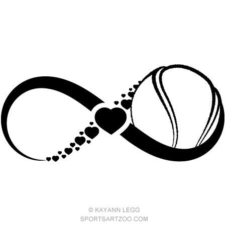 Tennis Love Infinity Sportsartzoo Tennis Clip Art Tennis Ball