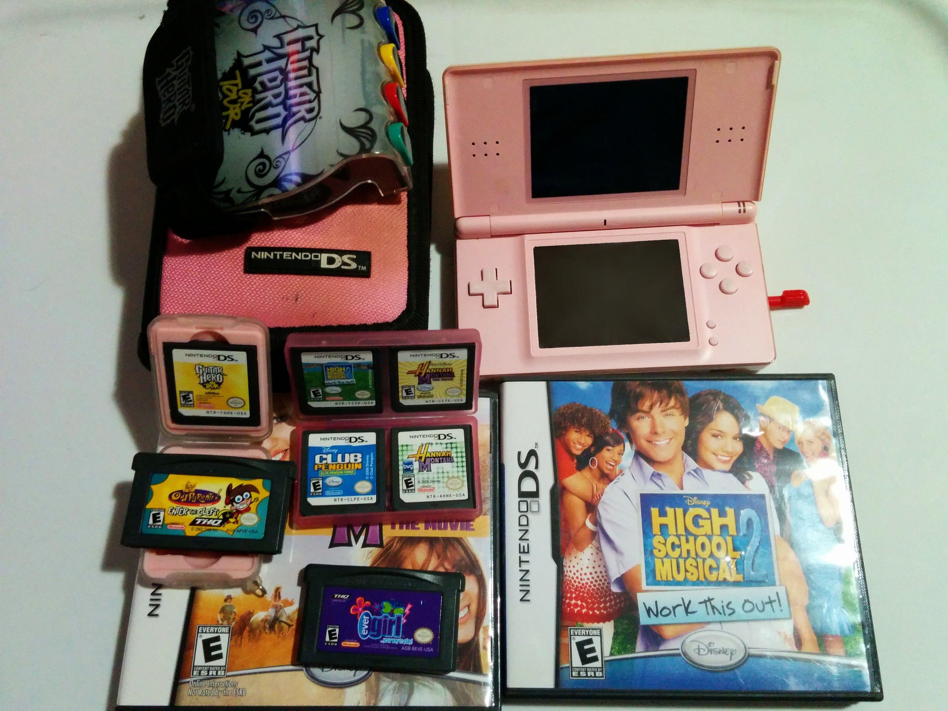 COMBO: Nintendo DS Rosa + 8 Juegos + Accesorios  -- SOLO CAMBIOS S.L.P. --   Busco consolas, juegos y accesorios Retro y Coleccionables de NINTENDO, en especial oficiales (Zelda, Mario, etc).  OFERTAS SERIAS