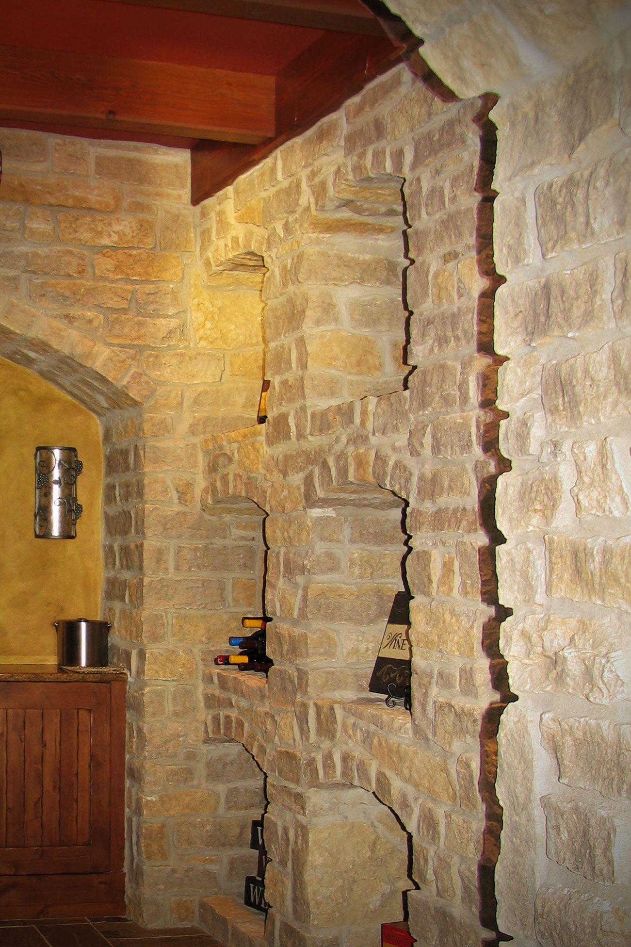Interior Stone Veneer >> Mill Creek Stone Veneers Buechel Stone Wine Cellar And