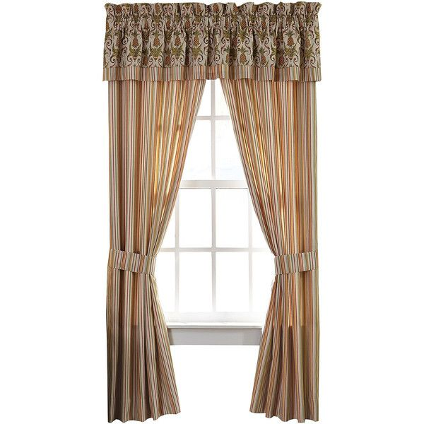 Croscill Classics Bay Breeze 2 Pack Curtain Panels 80 Liked On Polyvore Featuring Home Home Decor Windo