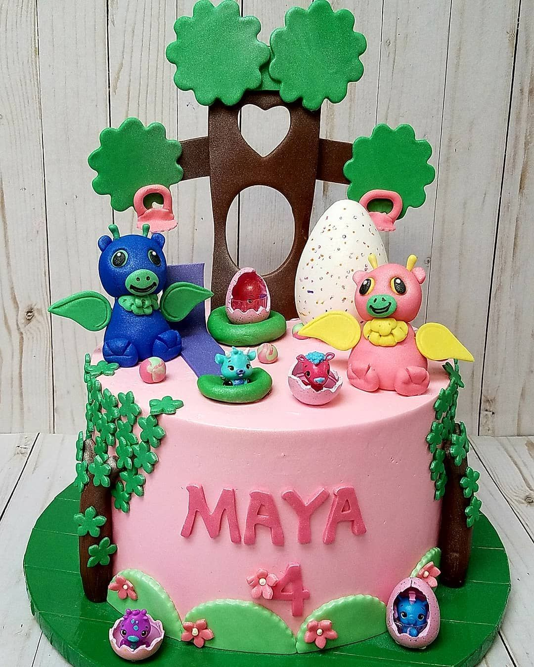 Hatchimal Cake For Maya Buttercream With Fondant Details Happy Birthday Pastrybagcakeco Ctcustomcakes Birthdaycakes Hatchimals