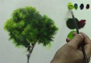 Como pintar un arbol | PINTURA | Como pintar en oleo ...