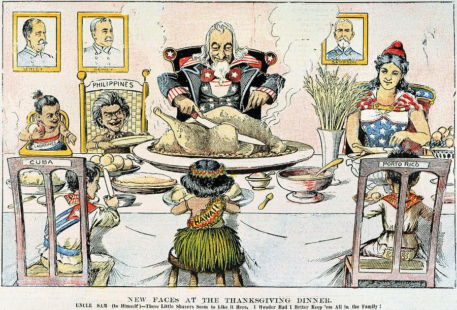 New Faces At The Thanksgiving Dinner American Cartoons