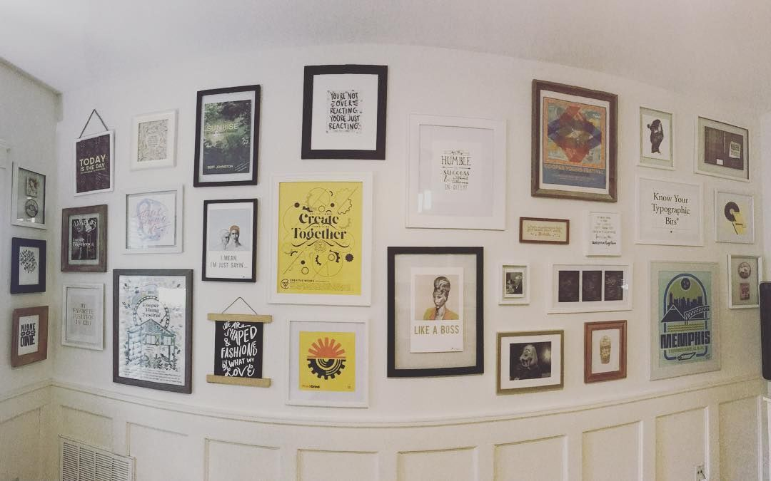 Family style photo frame gallery wall home