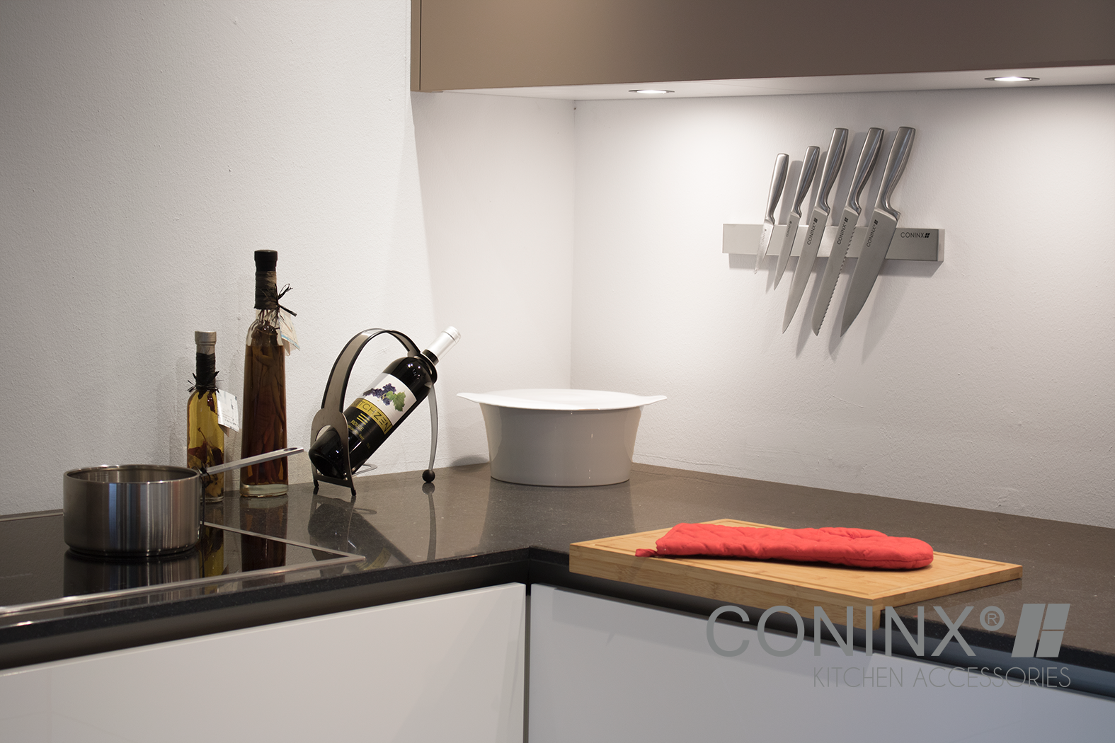 kitchen accessories design%0A Create space in your drawers and on your counter tops by installing this  Magnetic Knife Holders