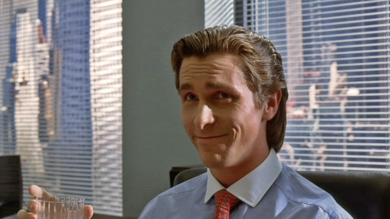 Patrick Bateman, a wealthy investment banker from the movie ...