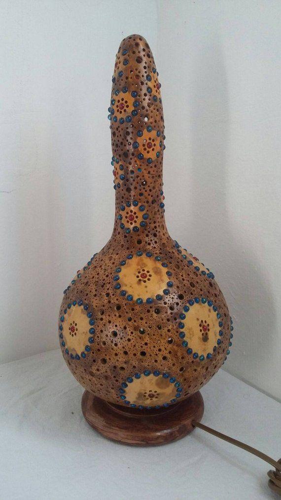 Huwelijksgeschenken, wedding, anniversary gifts Gourd lamp Turkish moroccan furniture arabic shadowlight bead design BOHO decor GOTHIC art