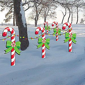 Candy Cane Outdoor Decorations Christmas Holiday Candy Canes Wood Working Pattern #2286