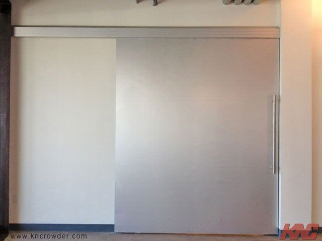Heavy Duty Top Mount Hangers Used On The Sliding Door For The Breakroom Offices In The Sklz Building In Carlsbad