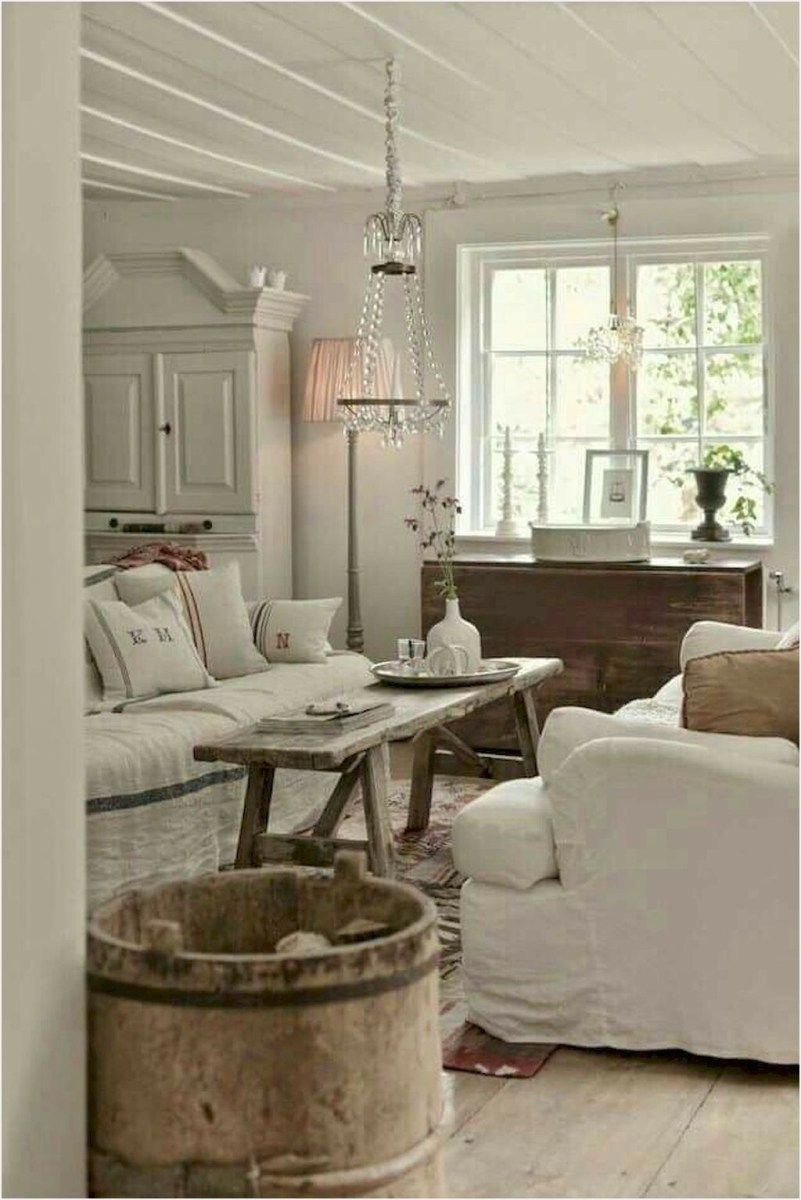 40 Cozy Living Room Decorating Ideas: 40 Cozy And Romantic Cottage Living Room 74 75 Romantic
