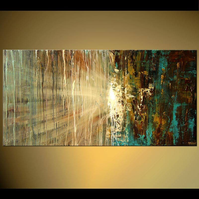 Horizontal Abstract Art Painting