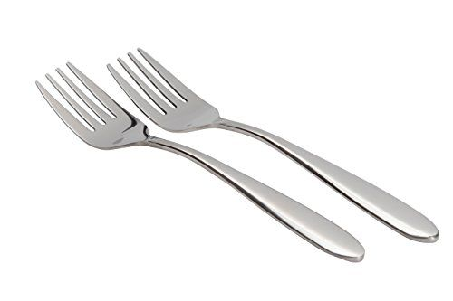 set of two large stainless steel serving forks buffet banquet style rh pinterest com