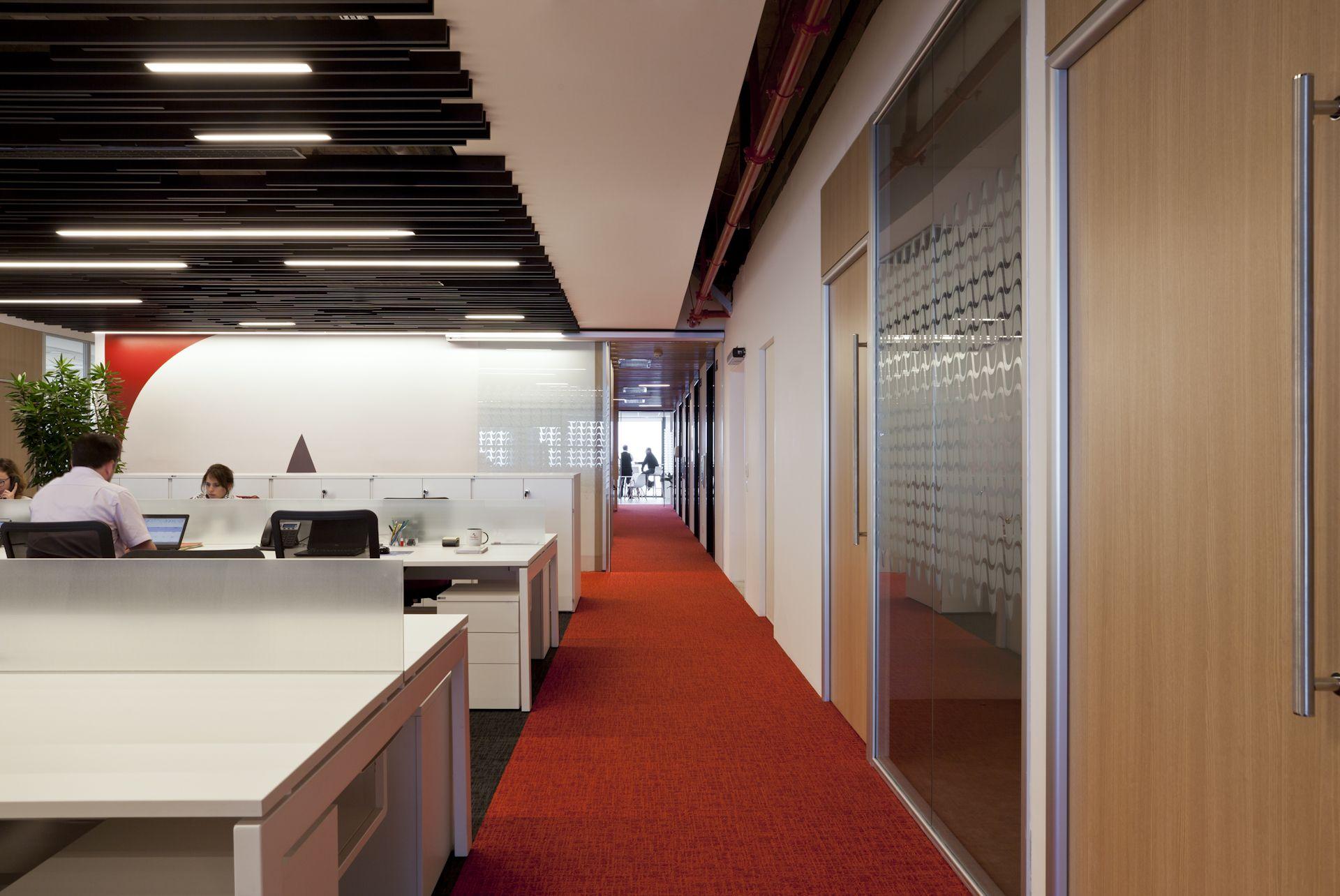 Open space e área de circulação stago #architecture #arquitetura