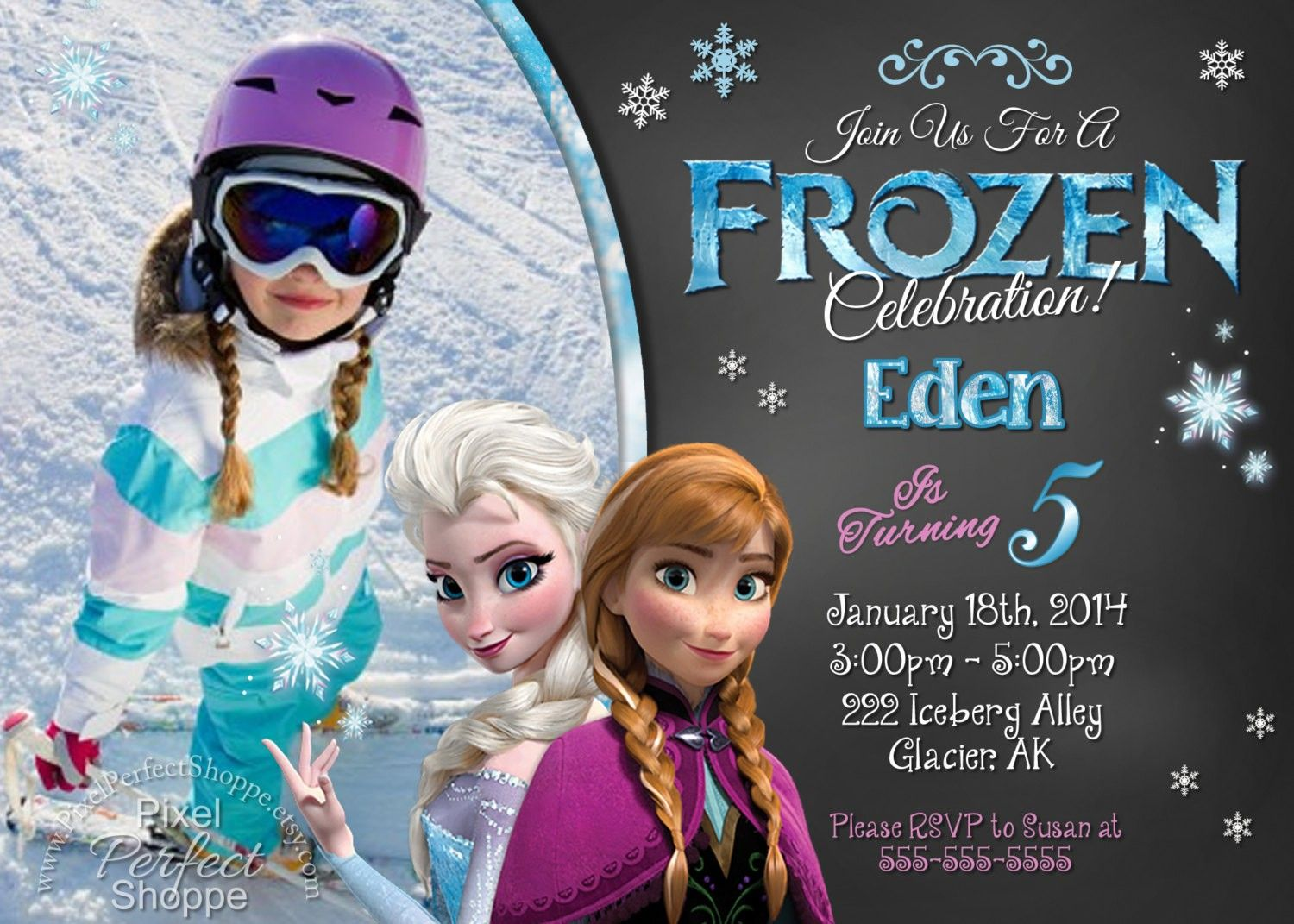happy birthday invitation pictures%0A Love it    Frozen printable birthday invitation templates to catch your  eyes  Fashion