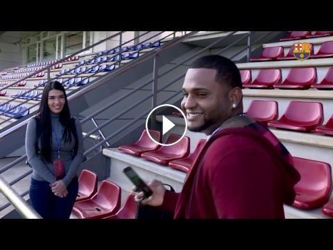 """Pablo Sandoval: """"Para mi es un sueño cumplido conocer a los jugadores del FC Barcelona"""": ---- FC Barcelona on Social Media Subscribe to our…"""