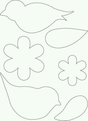 Cutout pattern #bird #flower #template