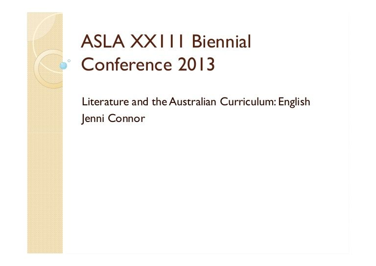 ASLA XXIII Biennial Conference - Jenni Connor - Jenni discusses shifts in the Australian Curriculum: English learning area and the implicati...