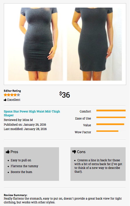 Shapewear Height Inches