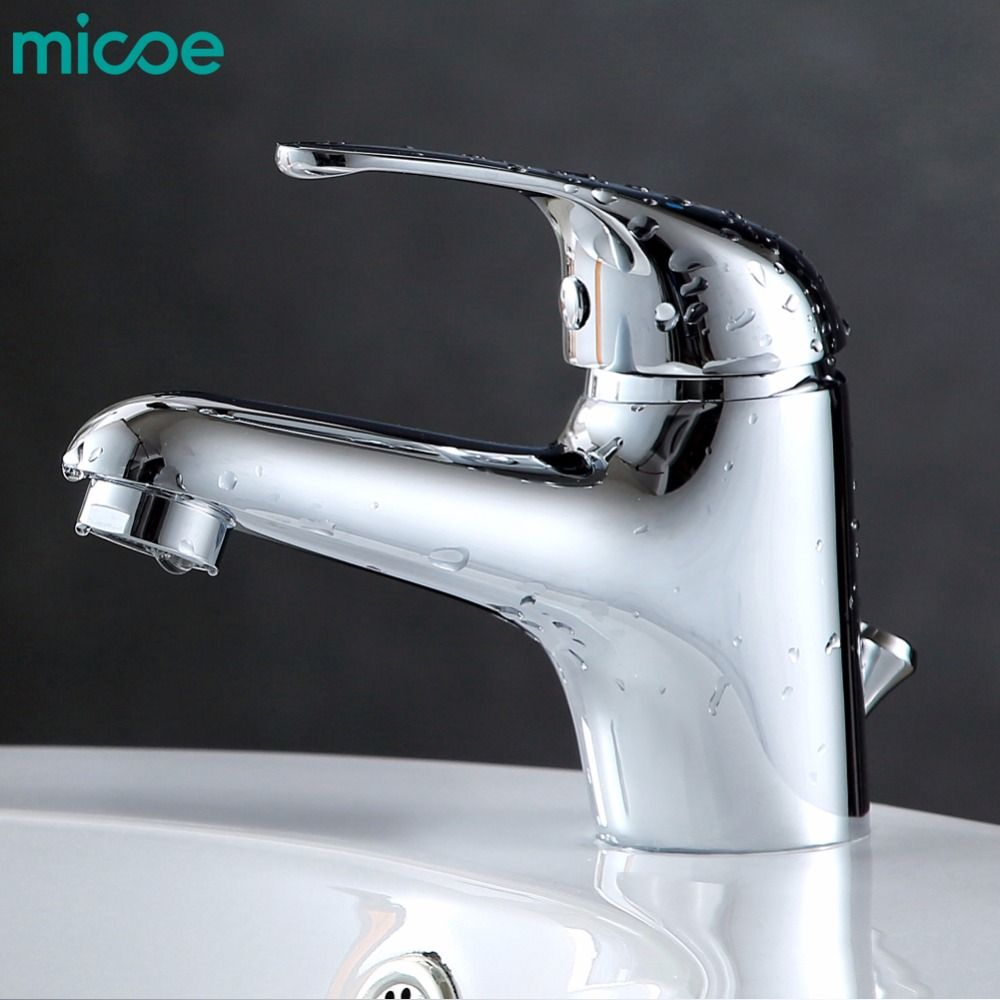 micoe hot and cold water basin faucet mixer single handle single ...