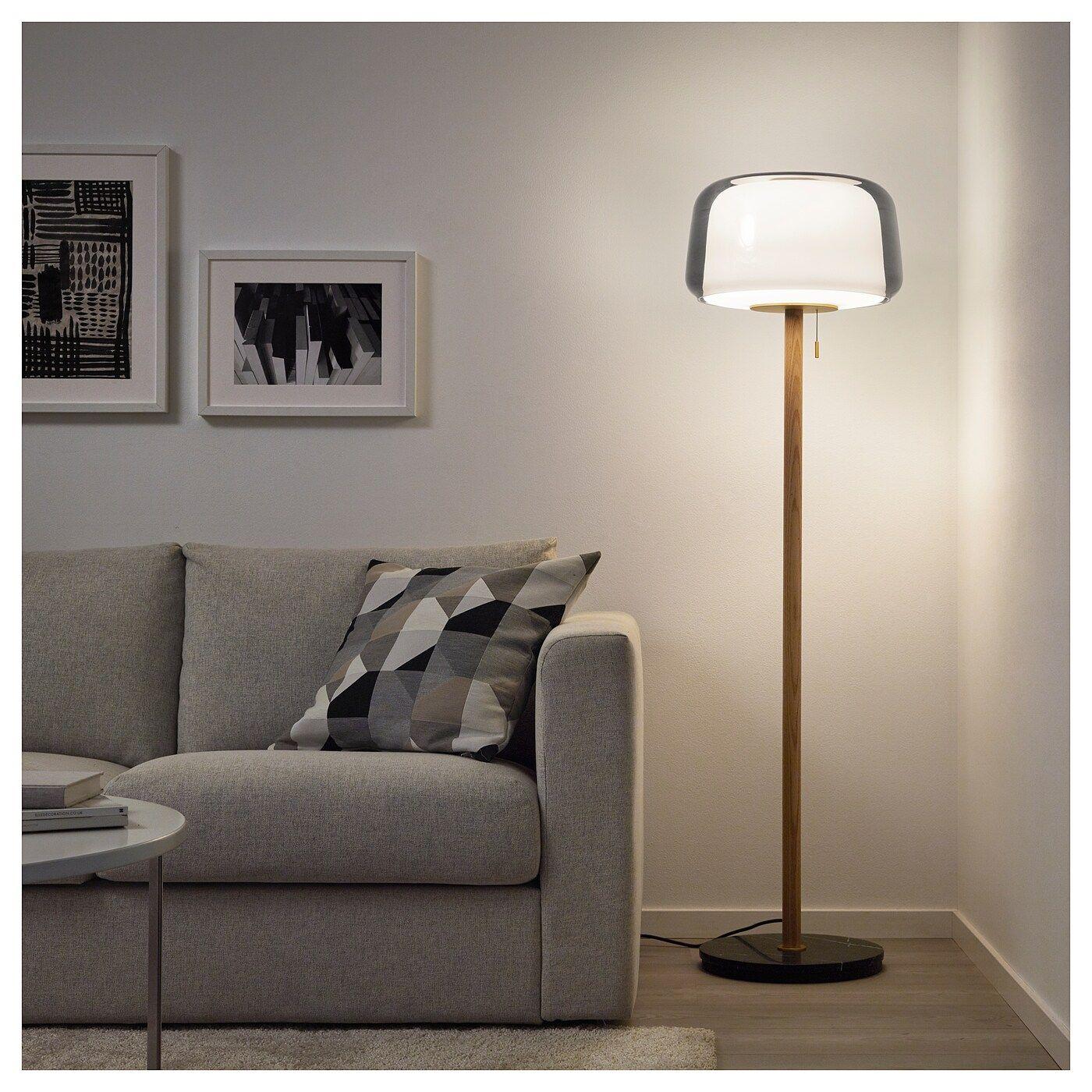 Evedal Floor Lamp With Led Bulb Marble Gray Gray En 2020 Lampadaire Marbre Gris Lampe Sur Pied