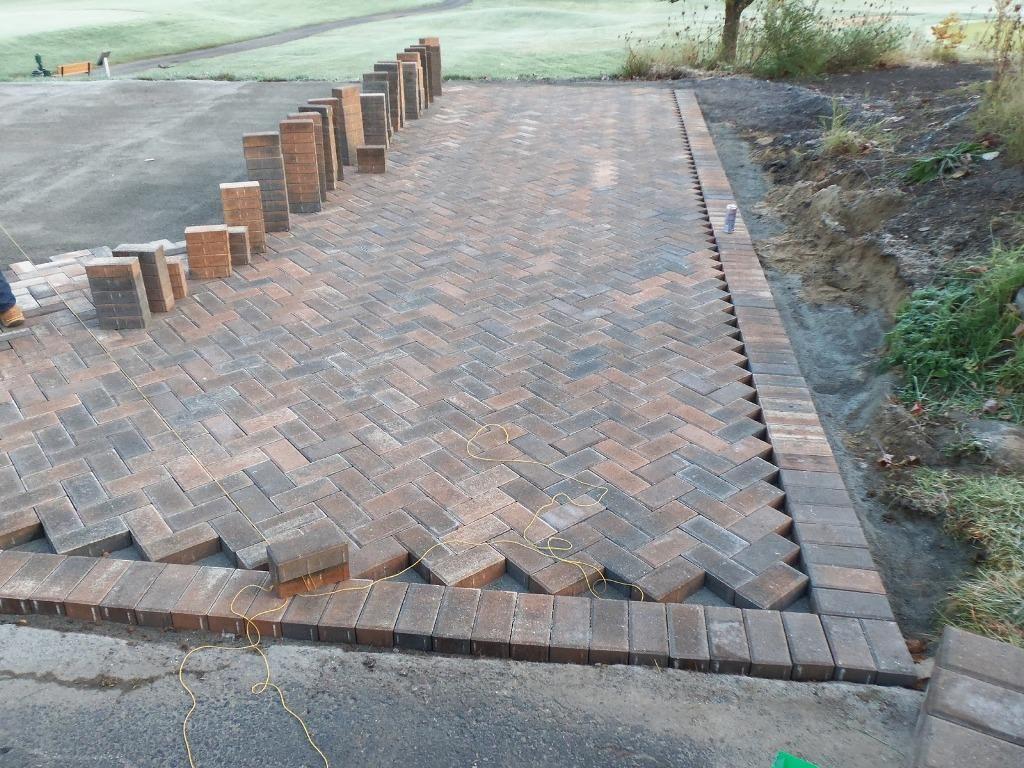Herringbone Brick Patio Awesome