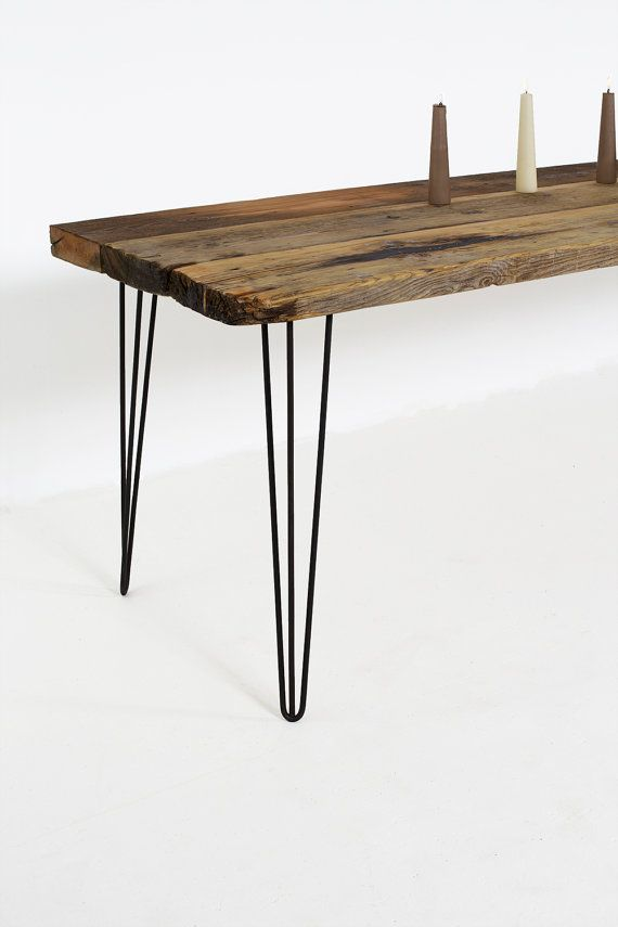 Industrial Dining Table Reclaimed Wood Table set