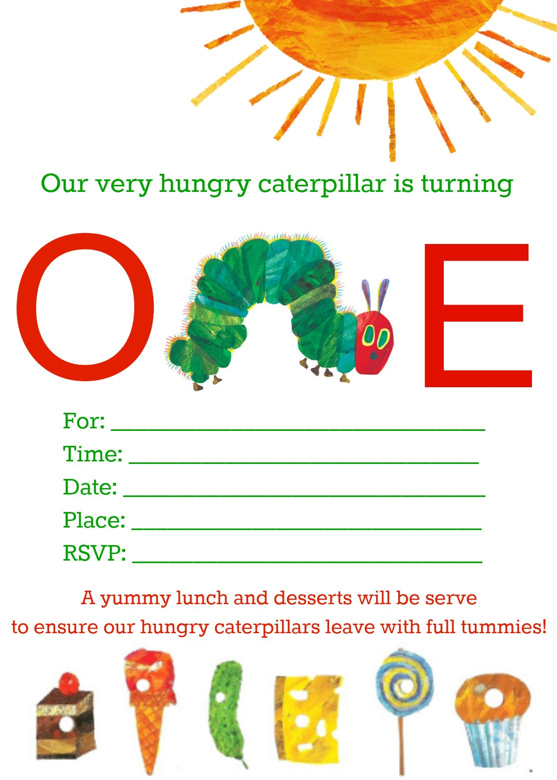 The Very Hungry Caterpillar Birthday | Hungry caterpillar, Birthdays ...