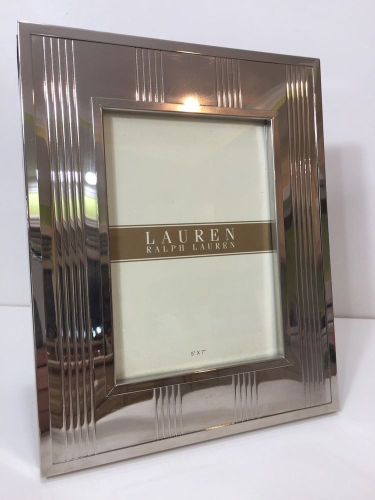 Lauren Ralph Lauren Silver Photo Picture Frame 5 X 6 Image 8 1 4 X 10 Ralphlauren Picture Frames Frame Photo Picture Frames