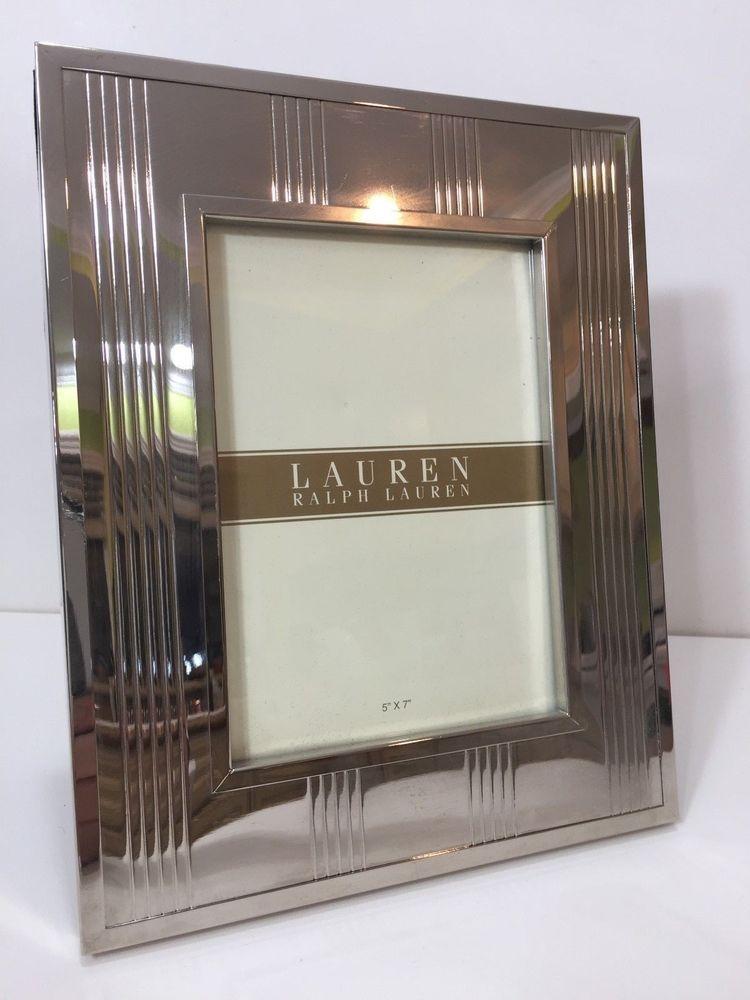 Lauren Ralph Lauren Silver Photo Picture Frame 5 X 6 Image 8 1 4 X 10 Ralphlauren Picture Frames Frame Photo Picture Frames