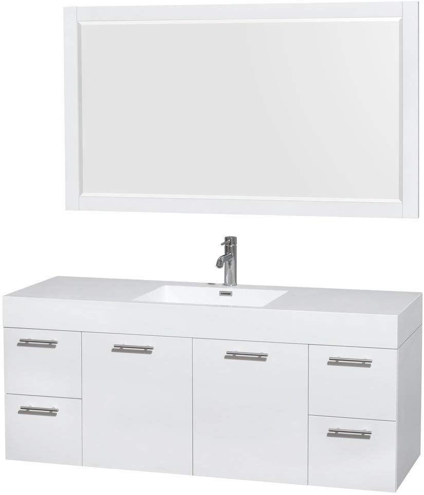 Wyndham Collection Amare 60 Inch Single Bathroom Vanity In Glossy
