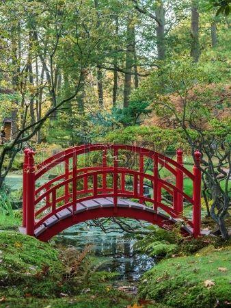 pont rouge japonaise traditionnelle