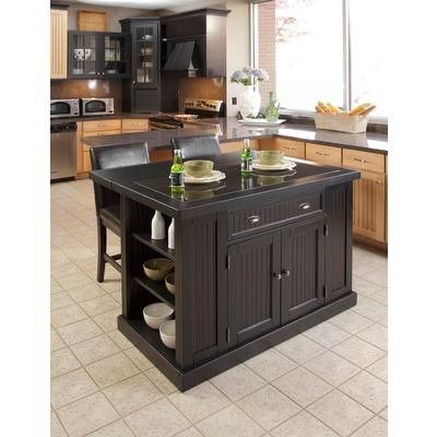 Beau Home Styles   Kitchen Island With Two Stools   5033 949   Home Depot Canada