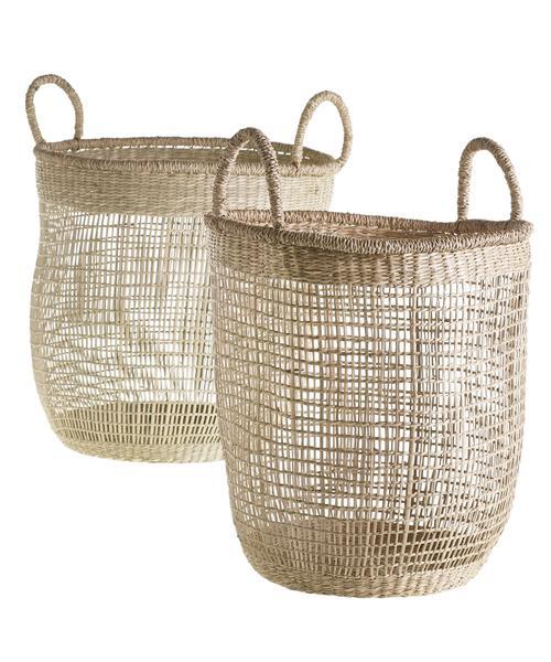 Netted Woven Sea Grass Baskets – High Street Market | Basket