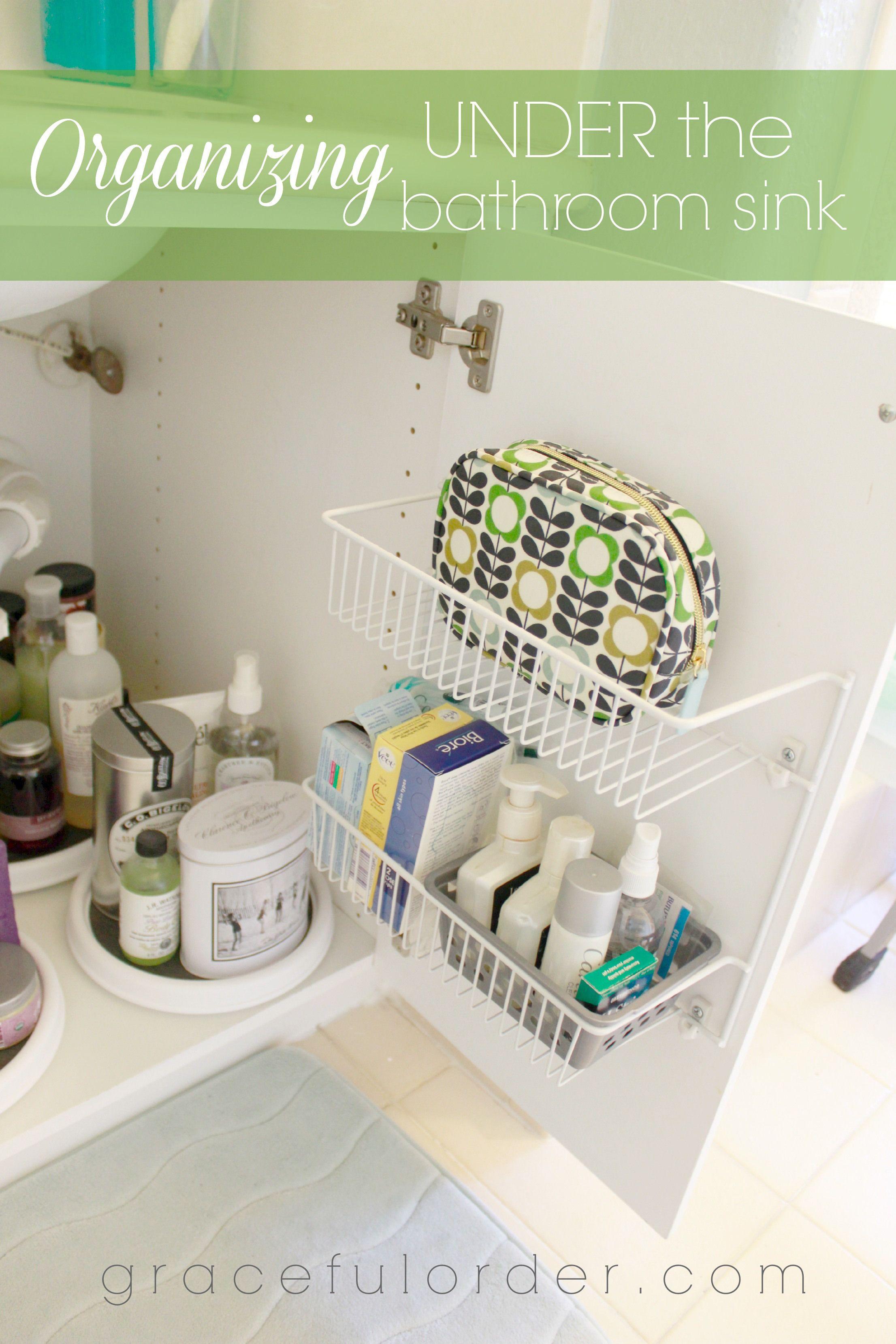organizing under the bathroom sink graceful order organization rh pinterest com