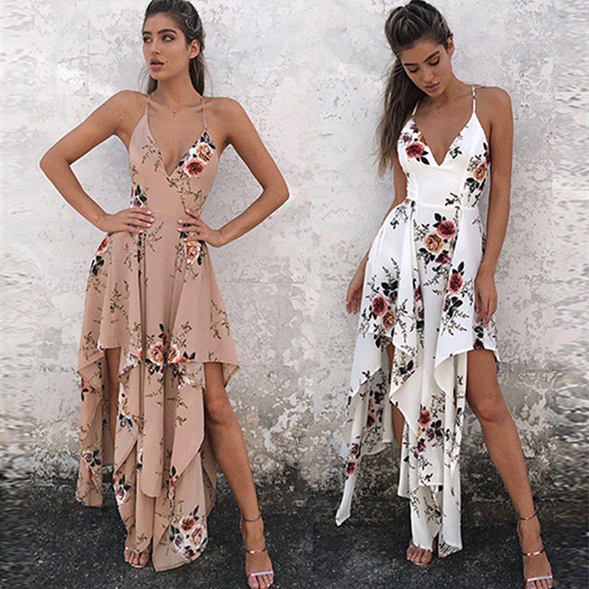 Women summer floral maxi dress long maxi evening dresses party beach